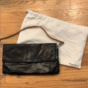 Kenneth Cole Leather Clutch with detachable strap